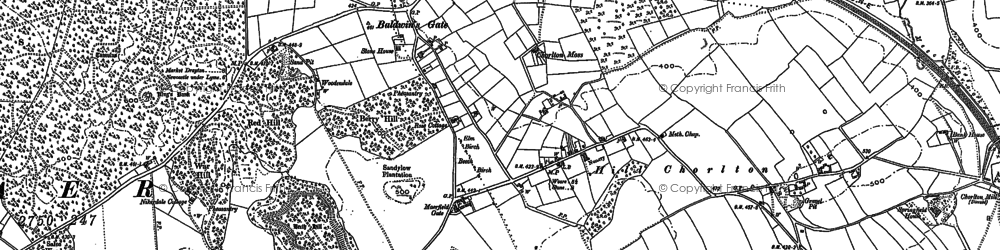 Old map of Baldwin's Gate in 1879