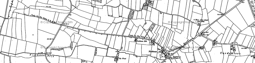 Old map of Baldwinholme in 1890