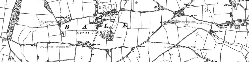 Old map of Bale in 1885