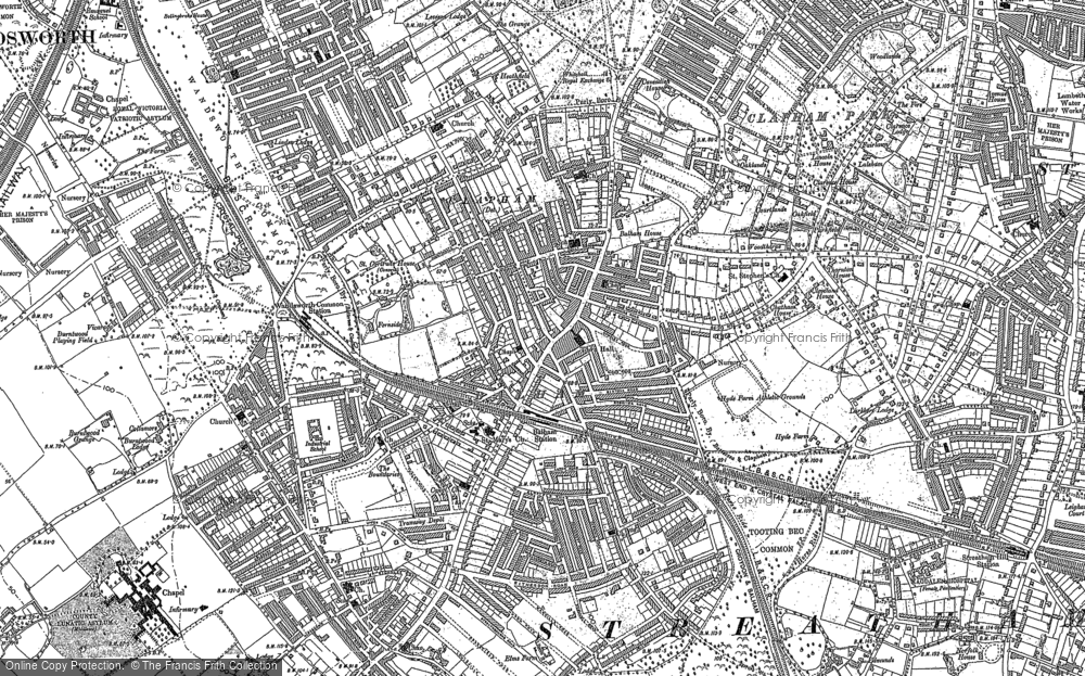 Old Map of Balham, 1894 in 1894