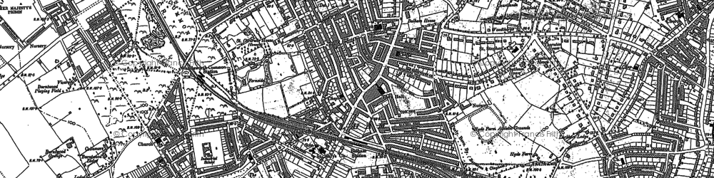Old map of Balham in 1894