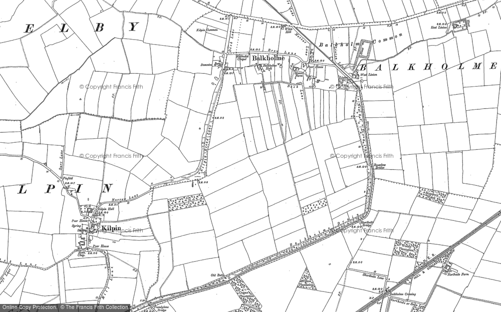 Old Map of Balkholme, 1888 - 1889 in 1888