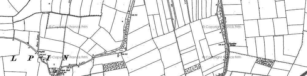 Old map of Balkholme in 1888