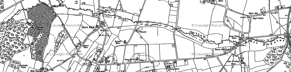 Old map of Ball Hill in 1909