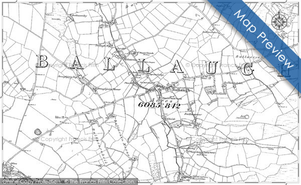 Historic map of Ballafageen
