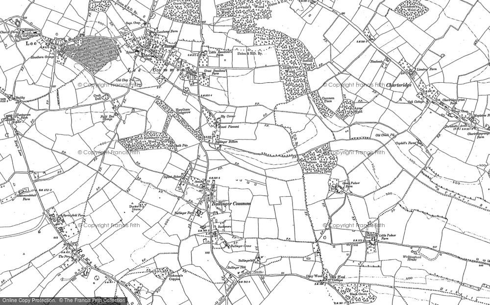 Old Map of Ballinger Bottom, 1897 in 1897