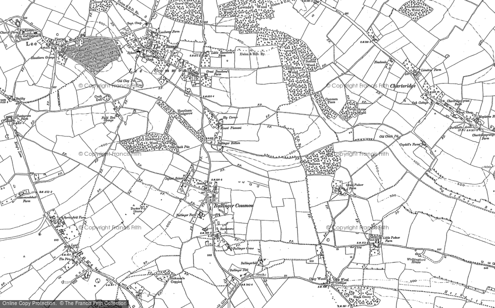 Old Map of Ballinger Common, 1897 - 1923 in 1897