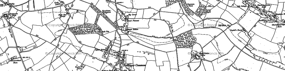 Old map of Ballinger Common in 1897