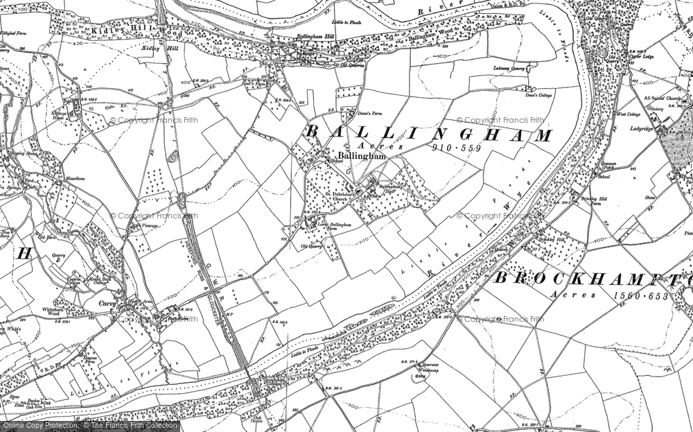Old Map of Ballingham, 1887 in 1887