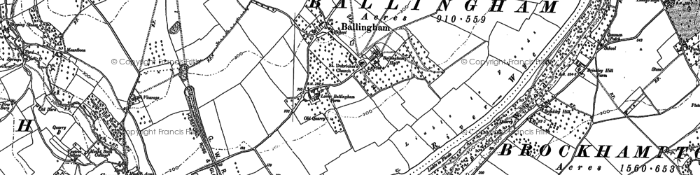 Old map of Ballingham Hill in 1887