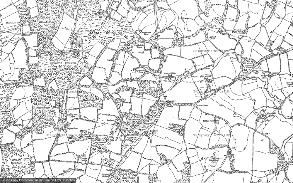 Old Map of Balls Cross, 1895 - 1910 in 1895