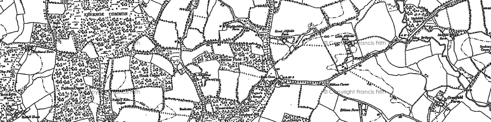 Old map of Balls Cross in 1895