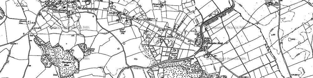 Old map of Balmer Heath in 1874