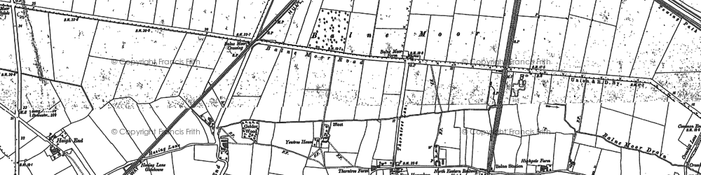 Old map of Balne Moor in 1888