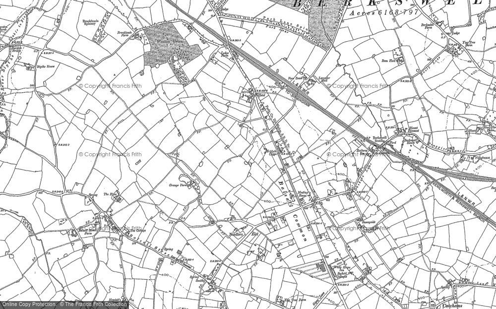 Map of Balsall Common, 1886