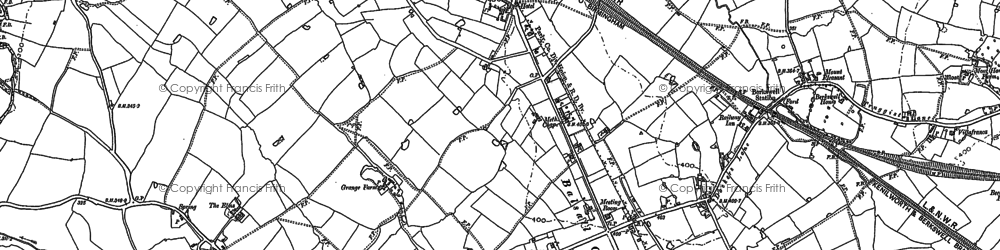 Old map of Balsall in 1886
