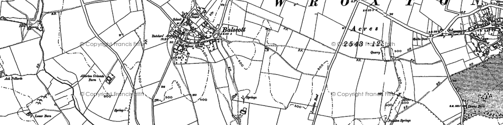 Old map of Balscote in 1899