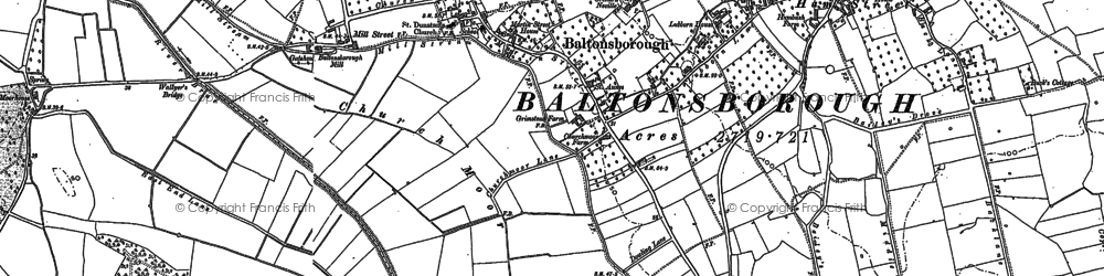 Old map of Baltonsborough in 1885