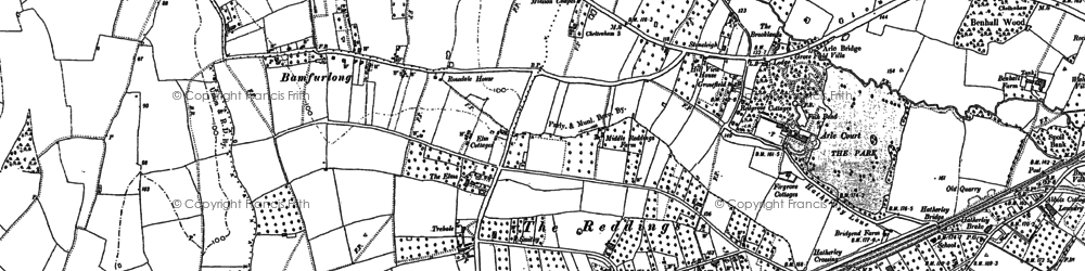 Old map of Bamfurlong in 1884