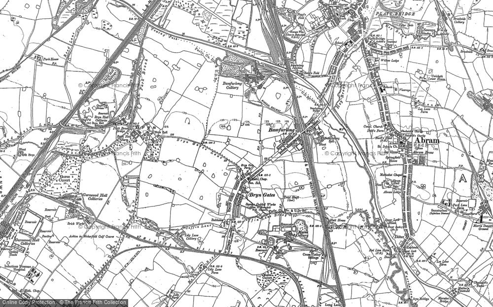 Old Map of Bamfurlong, 1892 in 1892