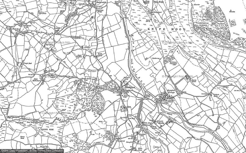 Old Map of Bampton, 1897 in 1897