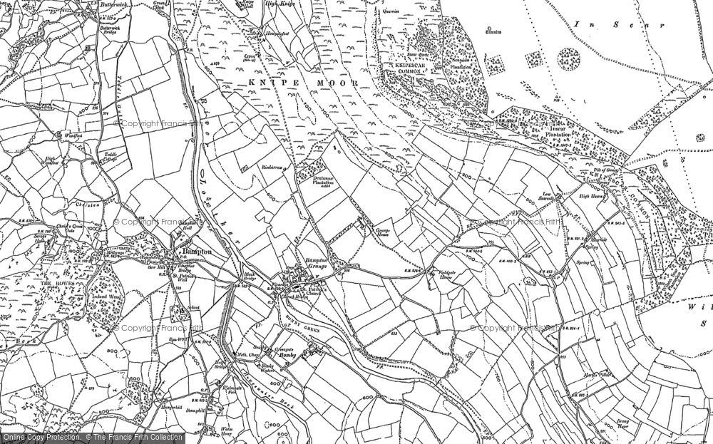 Old Map of Bampton Grange, 1897 in 1897