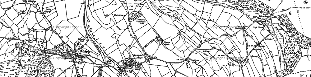 Old map of Bampton Grange in 1897