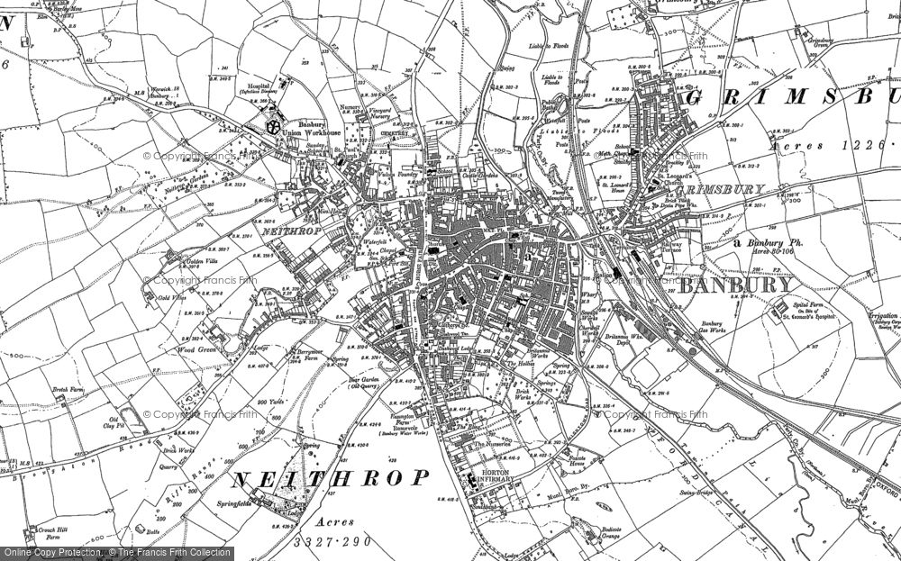 Old Map of Banbury, 1898 in 1898