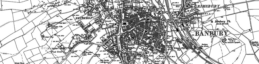 Old map of Banbury in 1898
