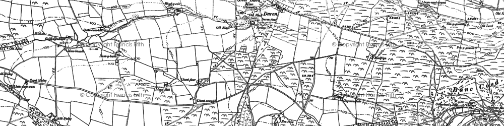 Old map of Afon Melindwr in 1886