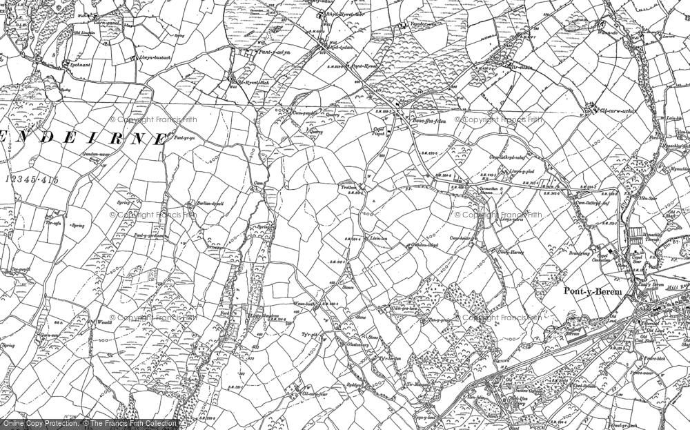 Map of Bancffosfelen, 1879 - 1888