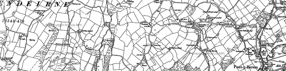 Old map of Bancffosfelen in 1879