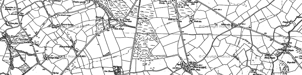 Old map of Bancycapel in 1887