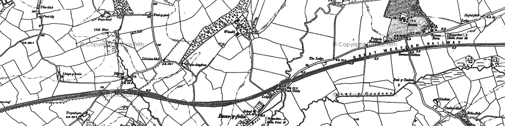 Old map of Bancyfelin in 1887