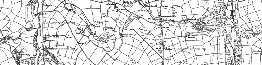 Old map of Bancyfford in 1887