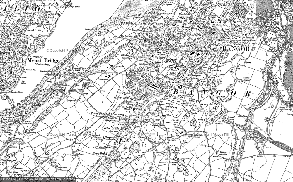 Old Map of Bangor, 1899 in 1899