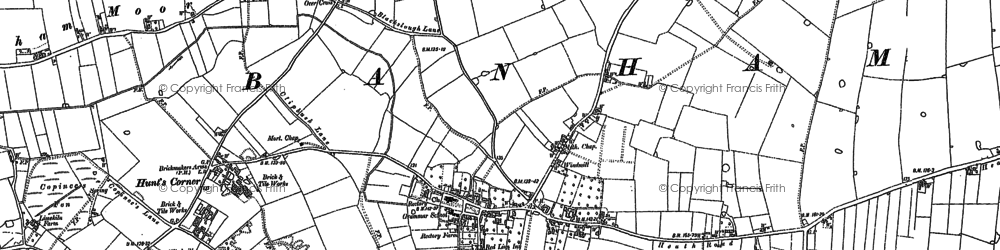 Old map of Banham Moor in 1882