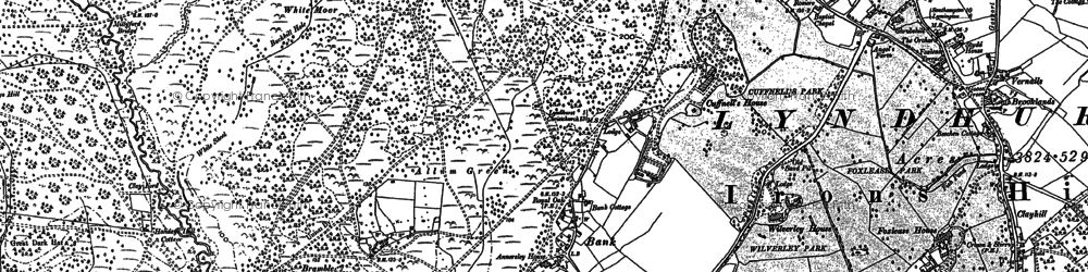 Old map of Allum Green in 1896