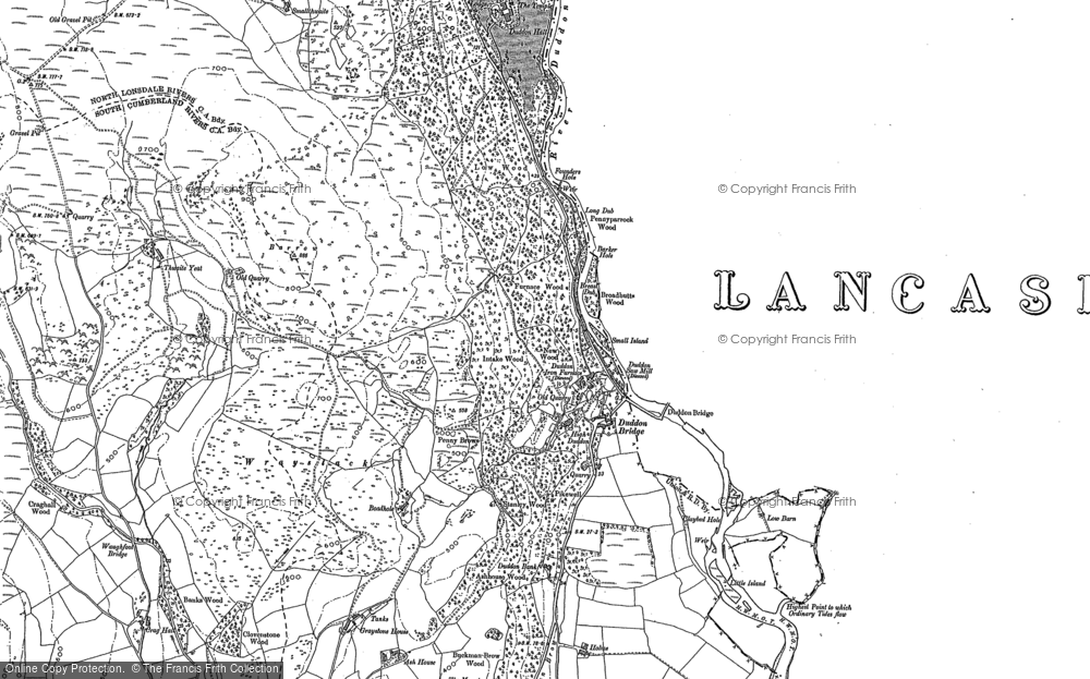Old Map of Bank End, 1911 - 1912 in 1911
