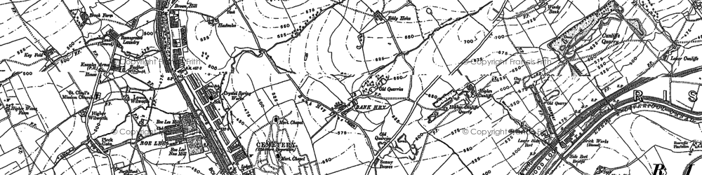 Old map of Bank Hey in 1891
