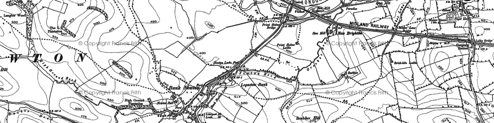 Old map of Bank Newton in 1893