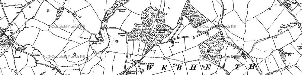 Old map of Bank's Green in 1903