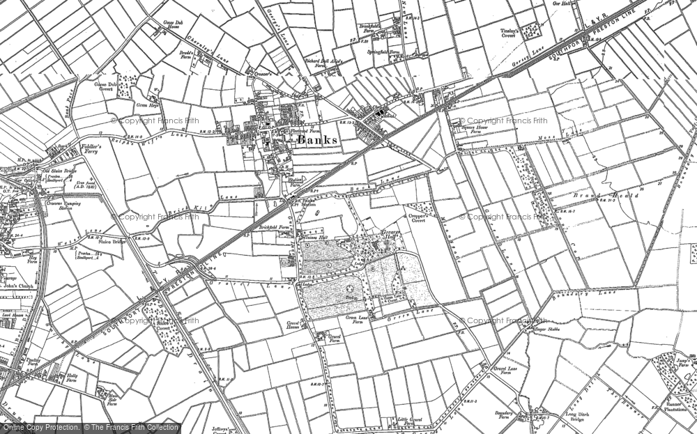 Old Map of Banks, 1891 - 1893 in 1891