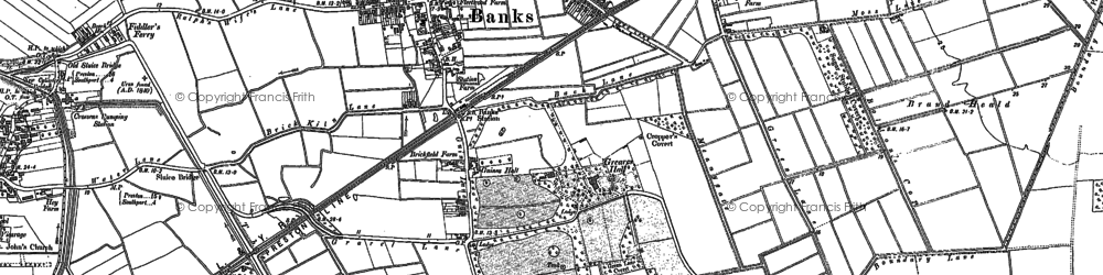 Old map of Banks in 1891