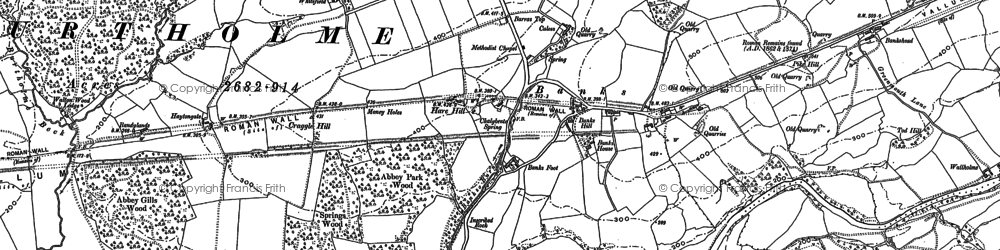 Old map of Allensteads in 1899