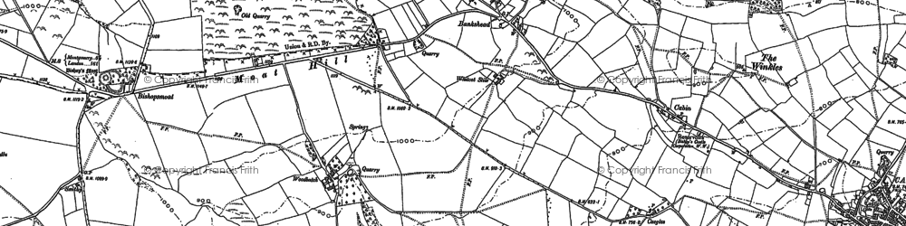 Old map of Bankshead in 1882