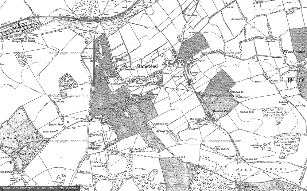 Old Map of Banstead, 1894 - 1895 in 1894