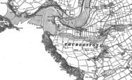 Old Map of Bantham, 1884 - 1905