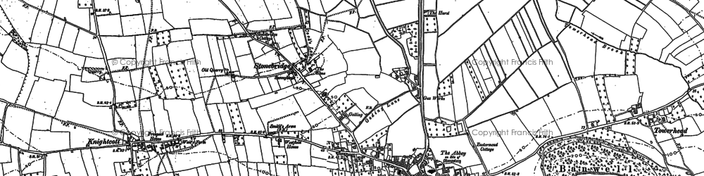 Old map of Banwell Castle in 1884