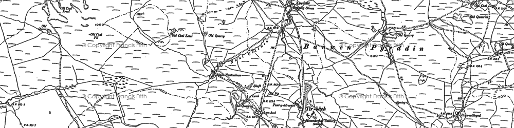 Old map of Banwen in 1903